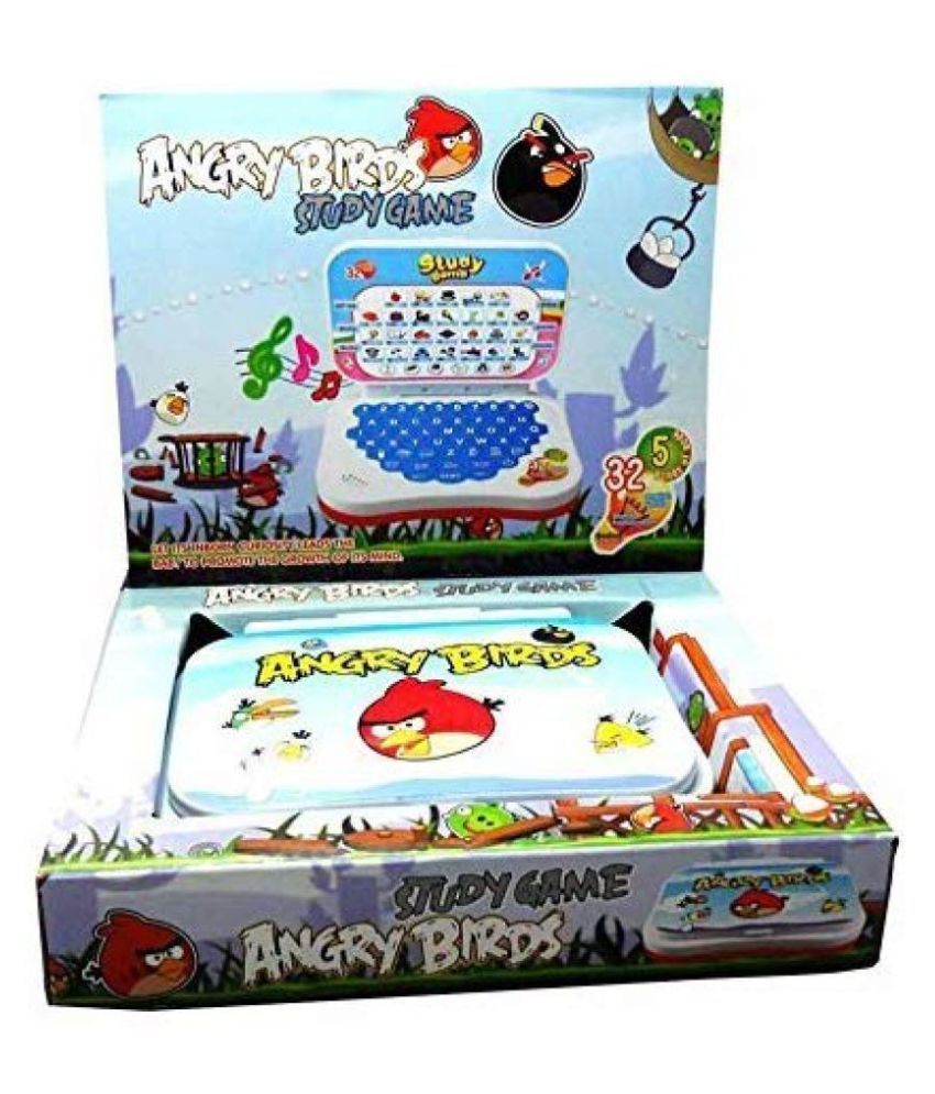 Angry Birds Study Game Mini English Leaning Laptop (Multi Color)