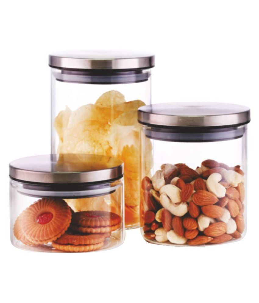 Borosil CLASSIC JAR SET OF 3 Glass Food Container Set of 3 1800 mL