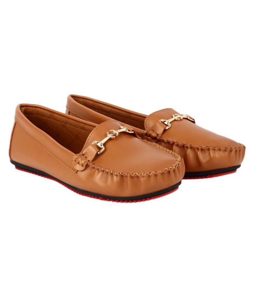 Flat N Heels Tan Casual Shoes