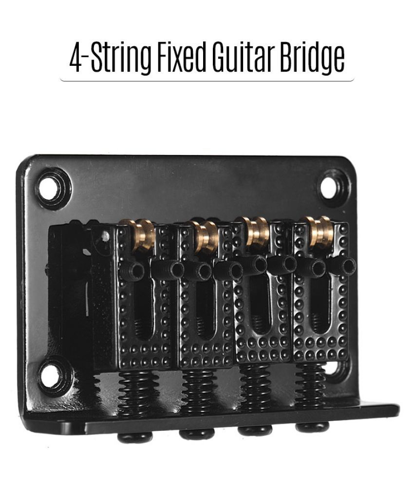 Black 7 String Fixed Bridge Replacement for Electric Guitar with Screw