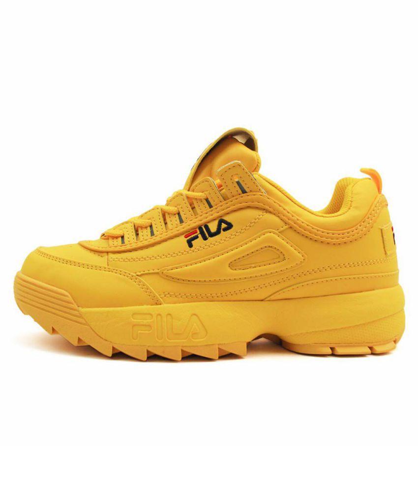 Fila Disrupter 2 Yellow Running Shoes