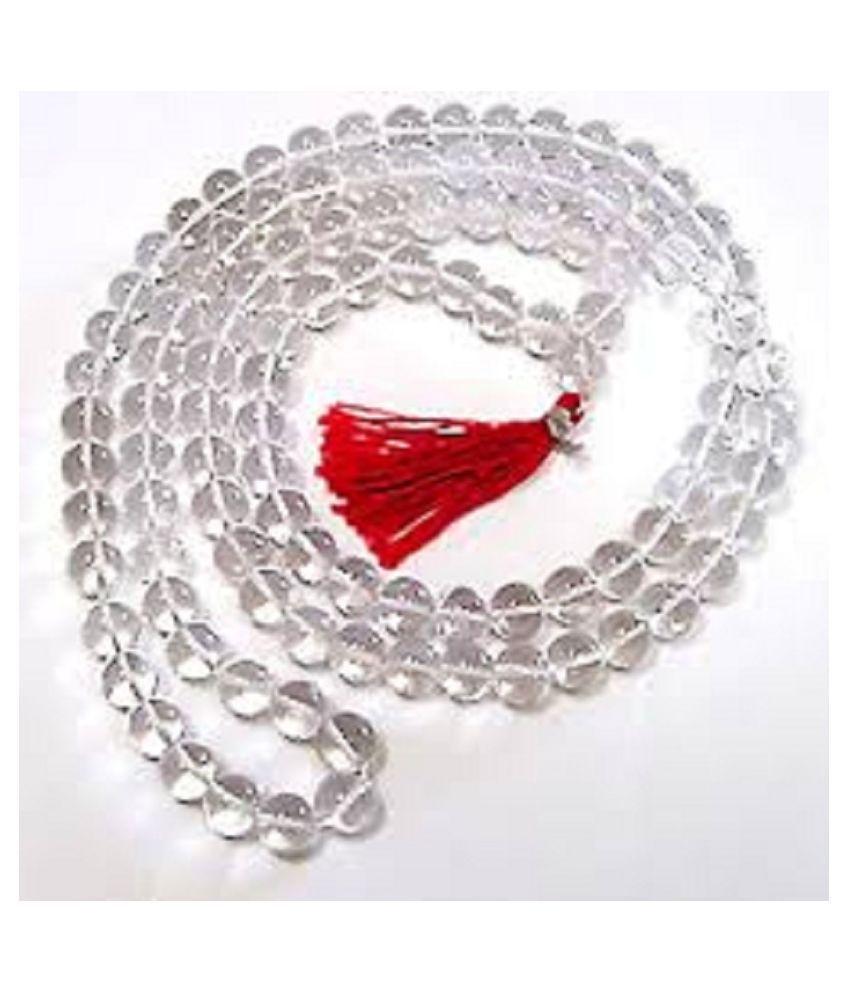 9STARS GALLERY  Sphatik Diamond Cut Mala For Men Woman For Worshipping