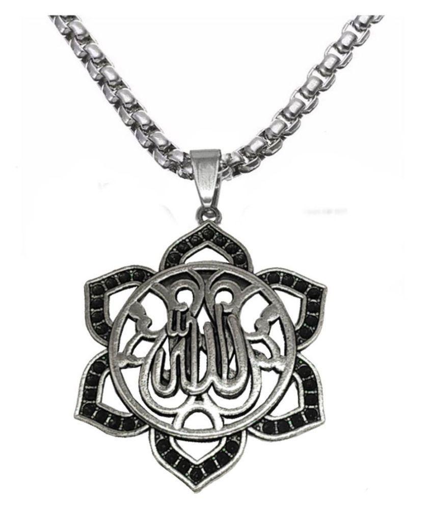 Men Style New Style Allah Arabic Letter Necklace Pendant