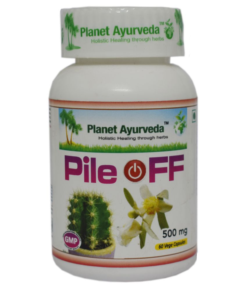 Planet Ayurveda Pile-Off Capsules Capsule 60 no.s Pack Of 1