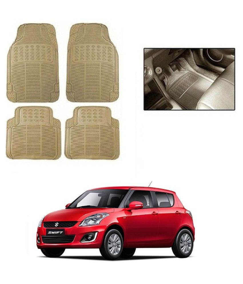 Trigcars Beige Set of 4 Floor Mat