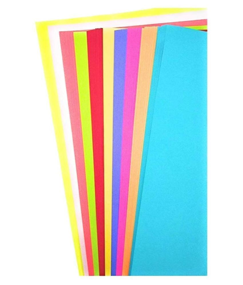 Assorted Color Sheets Copy Printing Papers 100 paper A4 size