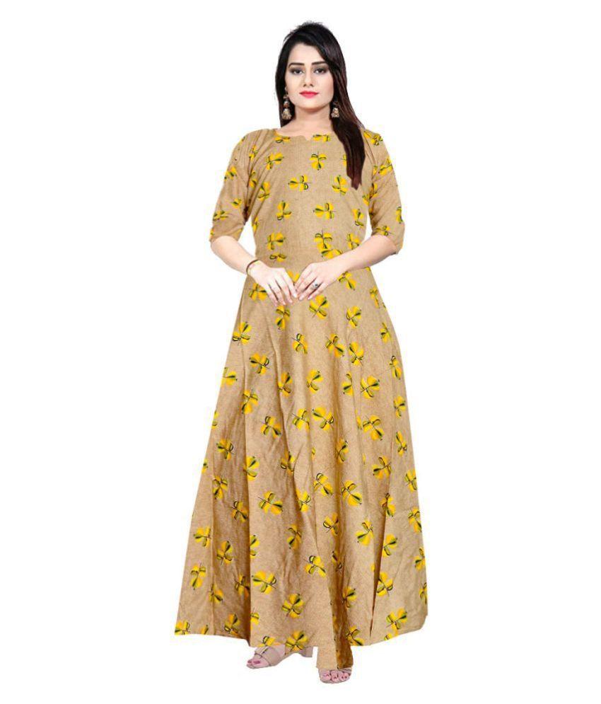 JWF Rayon Multi Color A- line Dress