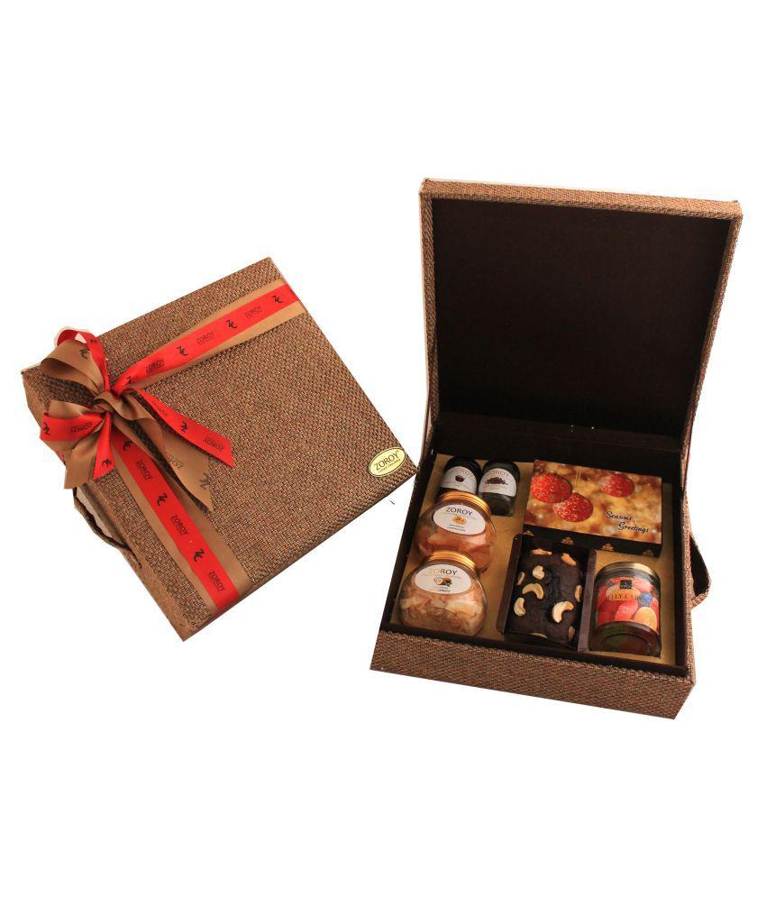 Zoroy Luxury Chocolate Assorted Box Christmas Eco friendly Jute Hamper Box 820 gm