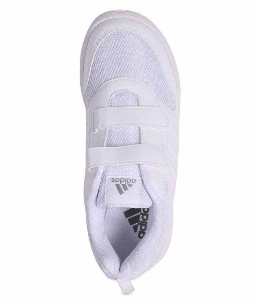 Adidas White Velcro School Shoes Price in India- Buy Adidas White ...