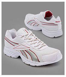 Reebok White Running Shoes