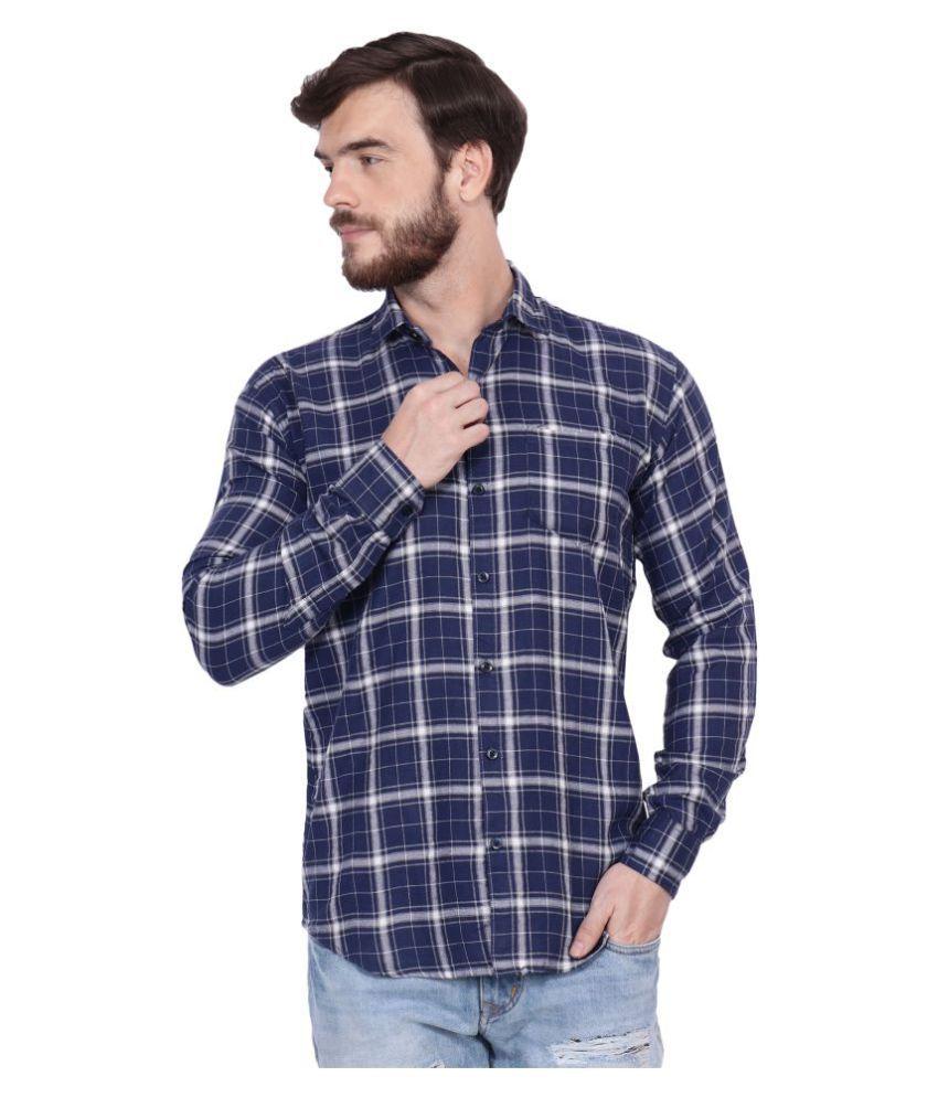 FnX 100 Percent Cotton Blue Checks Shirt