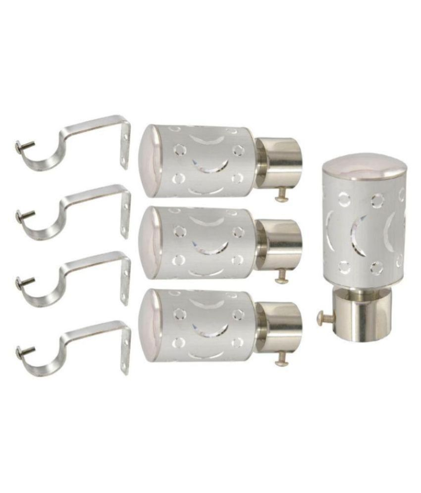 Taj Set of 4 Stainless Steel Single Rod Bracket