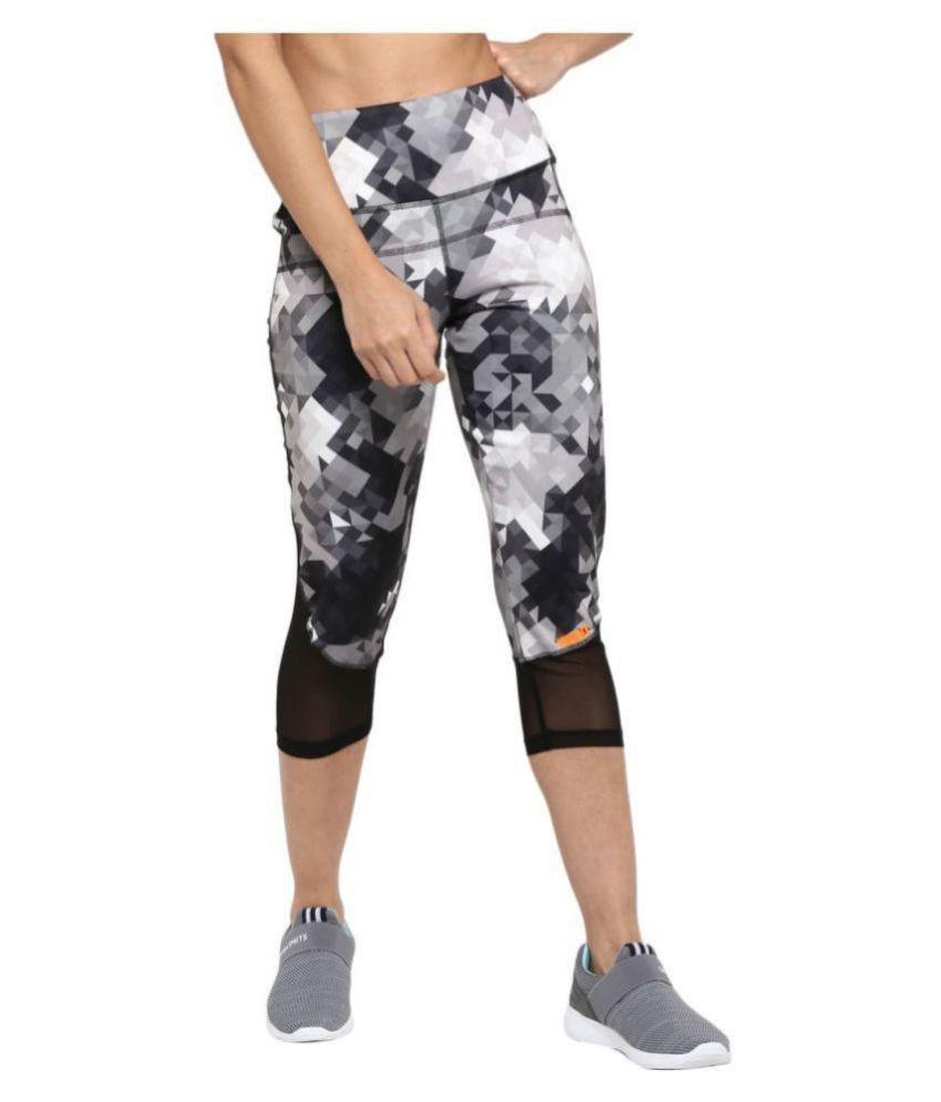 YUUKI Grey Polyester Printed Tights