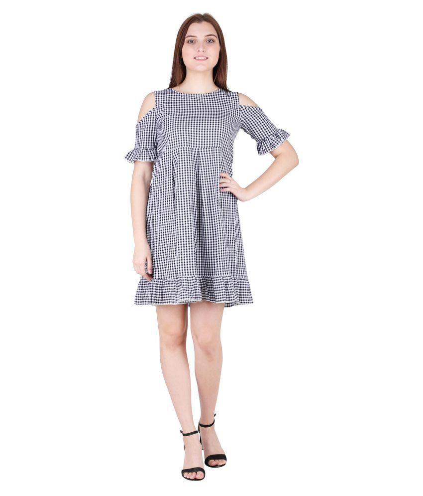 litlu Cotton Black Regular Dress