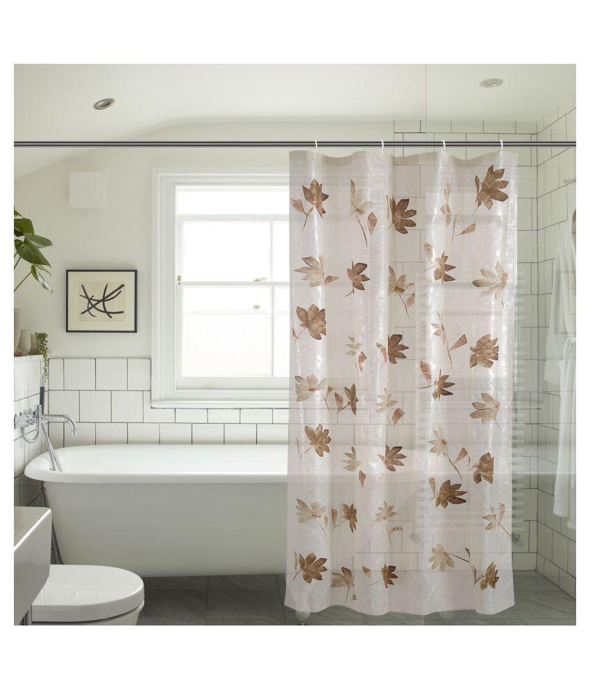 Khushi Creation Single Shower Curtain Orange Others