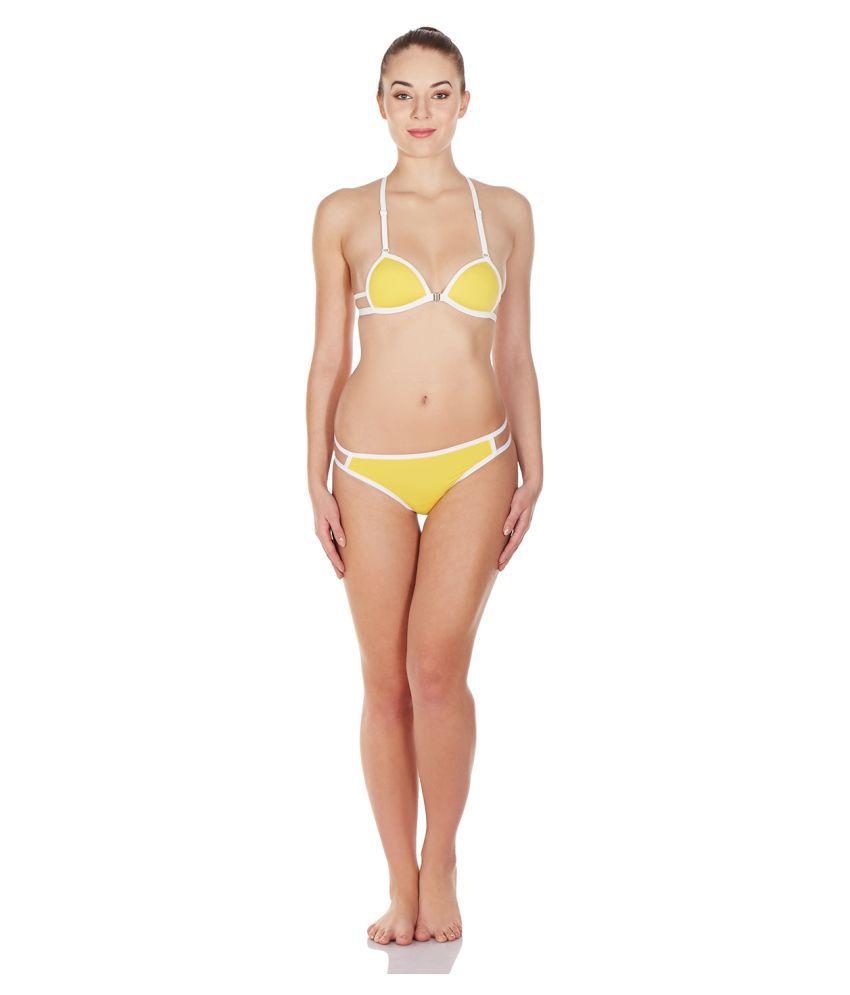 La Intimo Nylon Yellow Bikini