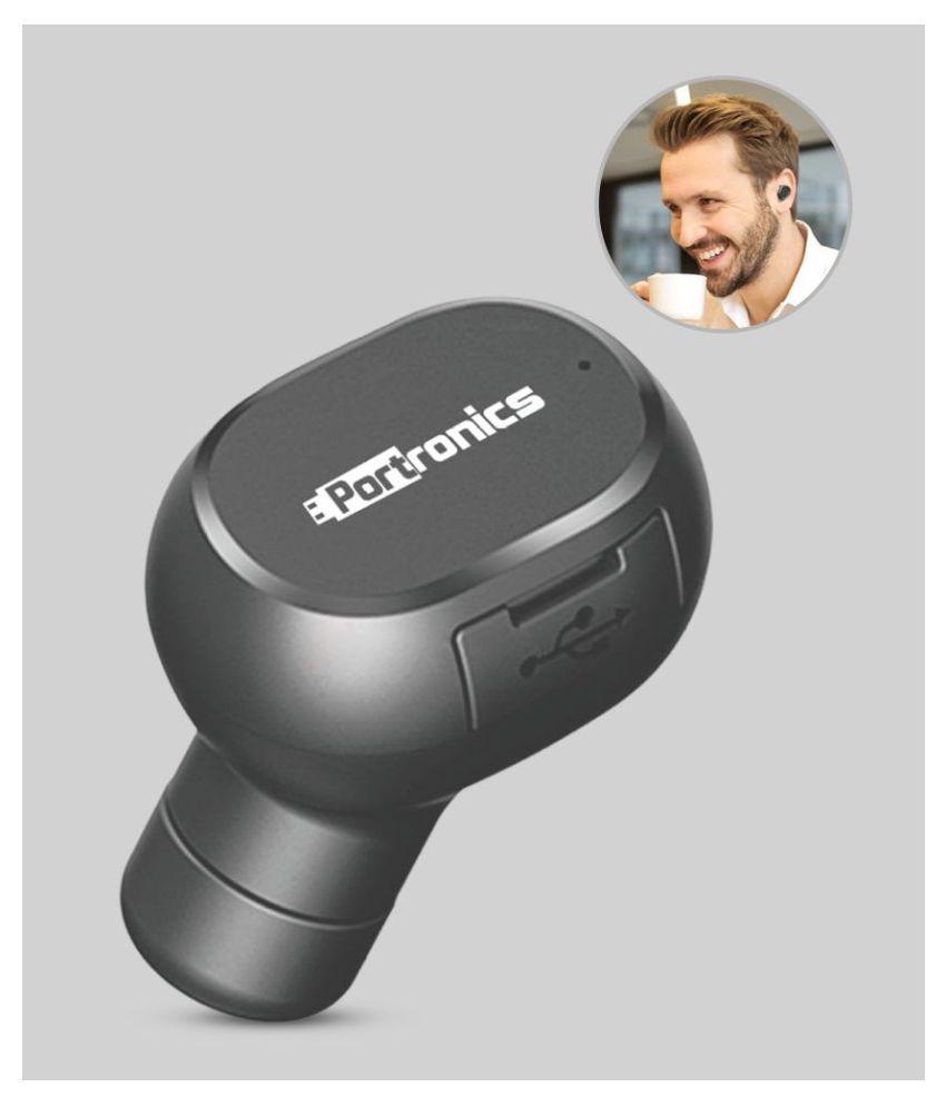 Portronics Bluetooth Headset - Black