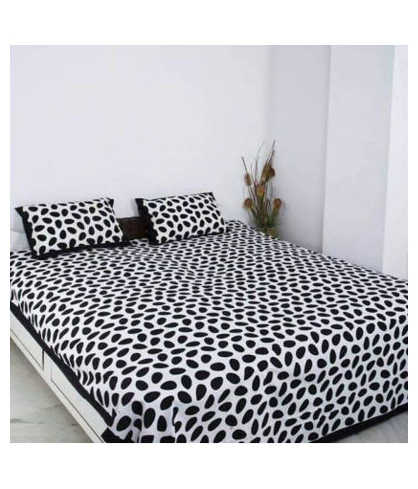 E-Wish Box Cotton Double Bedsheet with 2 Pillow Covers