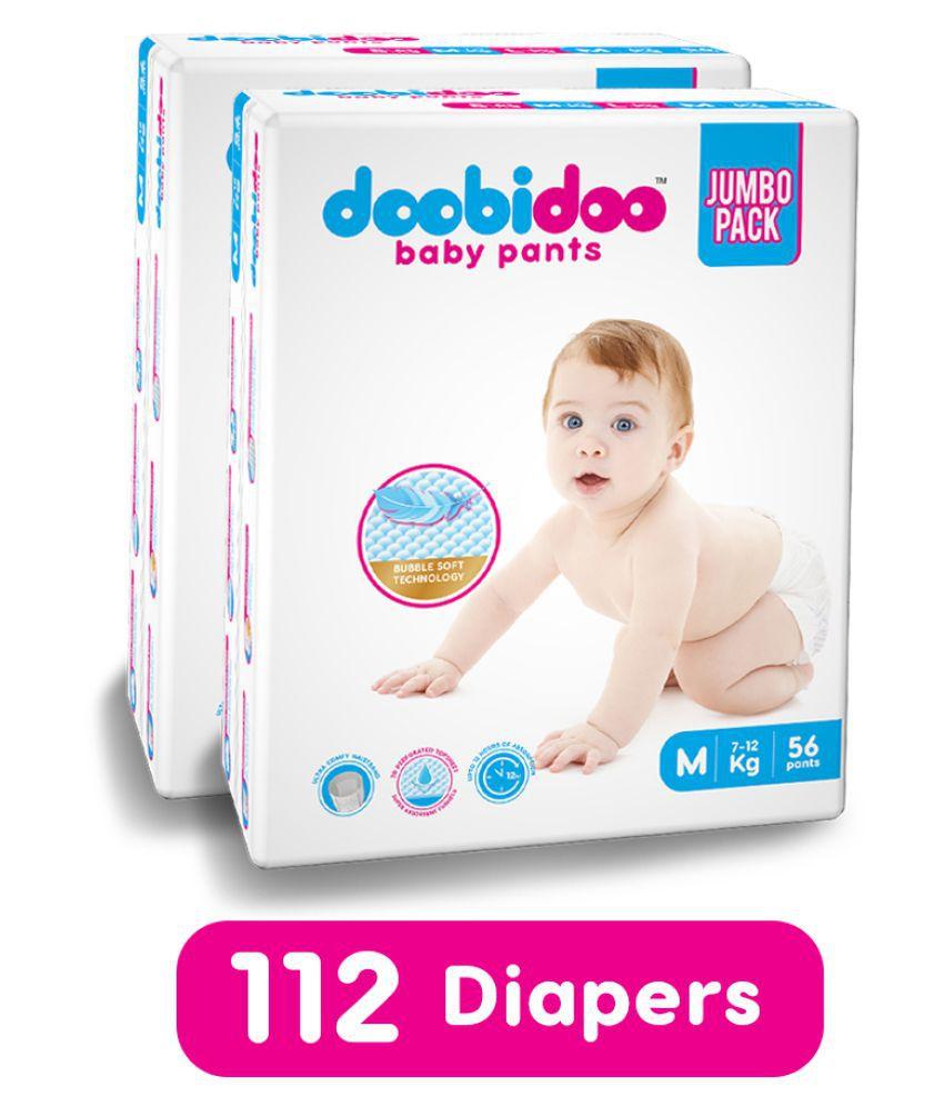 Doobidoo Baby Pants Medium Size Diapers 112 Pants - (Combo Pack)