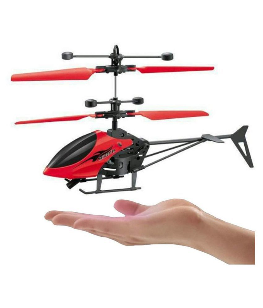 STEPHEN'S GIFT (™)TOY Hand Induction Control Flying Helicopter with Infrared Sensor, USB Charger and Flashing Light (Color May Vary)