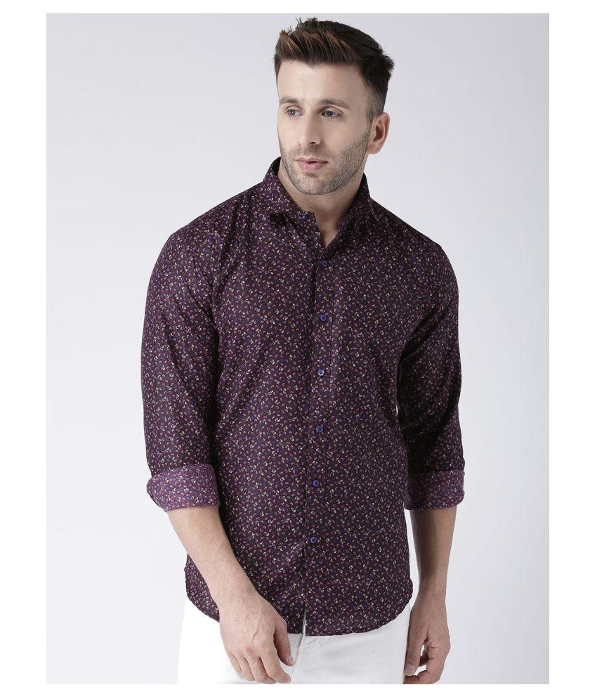 Hangup Cotton Blend Multi Prints Shirt