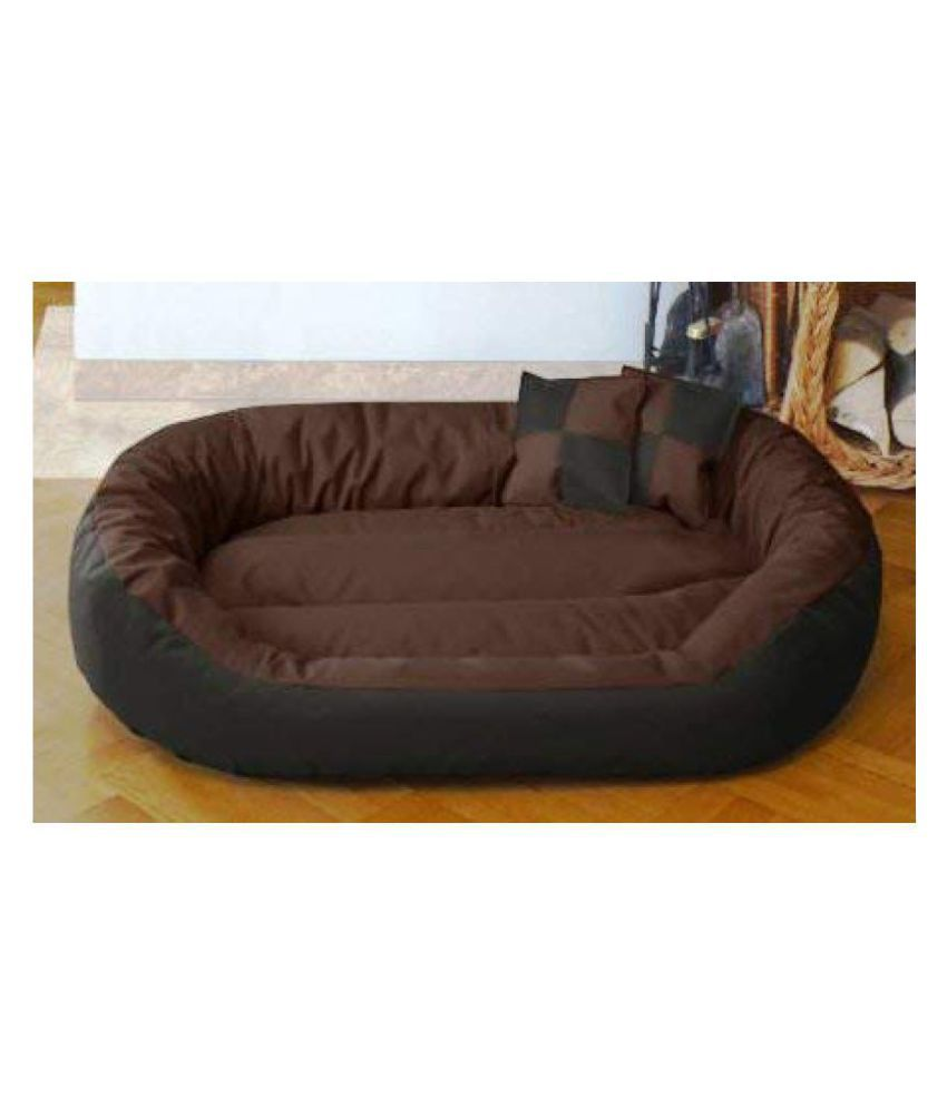 R.K Products Ultra Soft Ethnic Designer Bed with 2 Pillows for Dog and Cat - Small