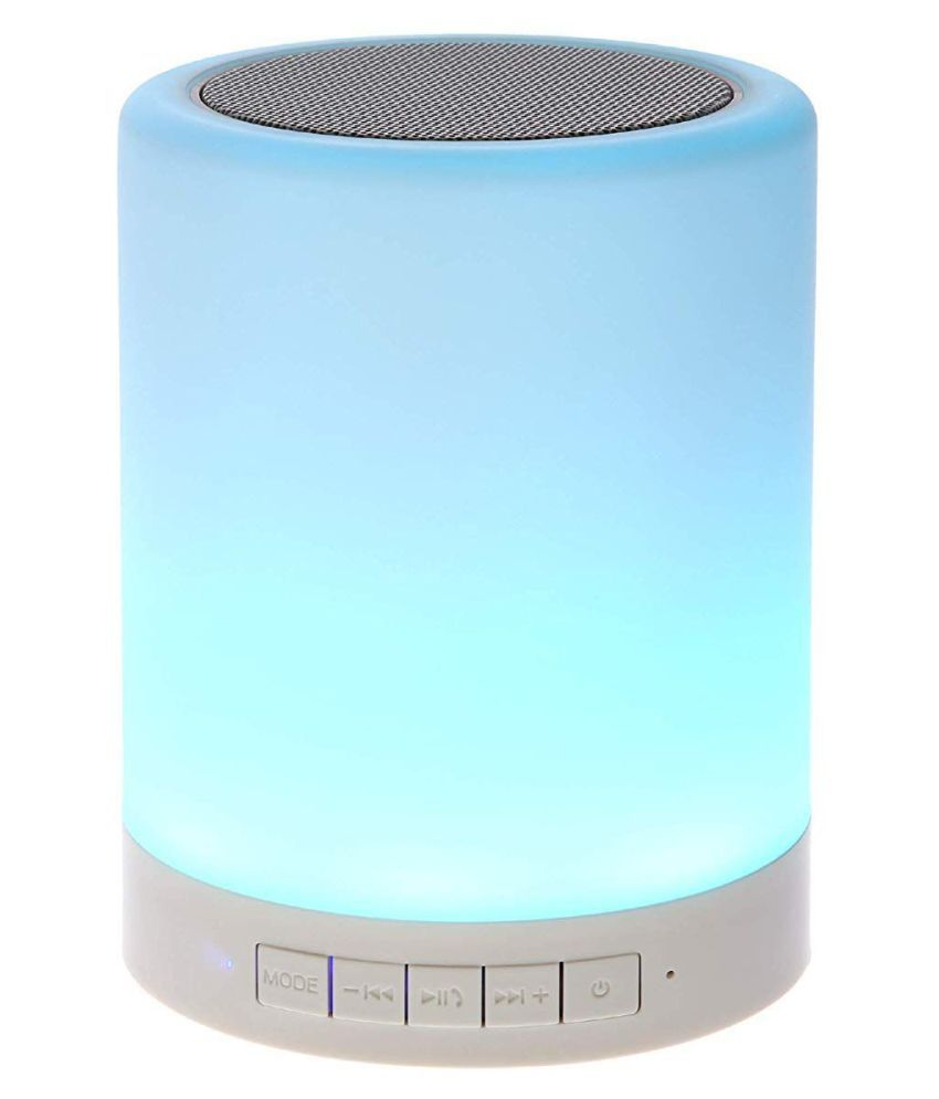 KINGSGATE Touch Lamp Speaker ( Wireless ) With mart Touch LED Mood Lamp & TF Card Slot