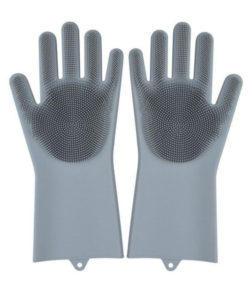 macklon silicon gloves Microfibre Standard Size Cleaning Glove 1 pair