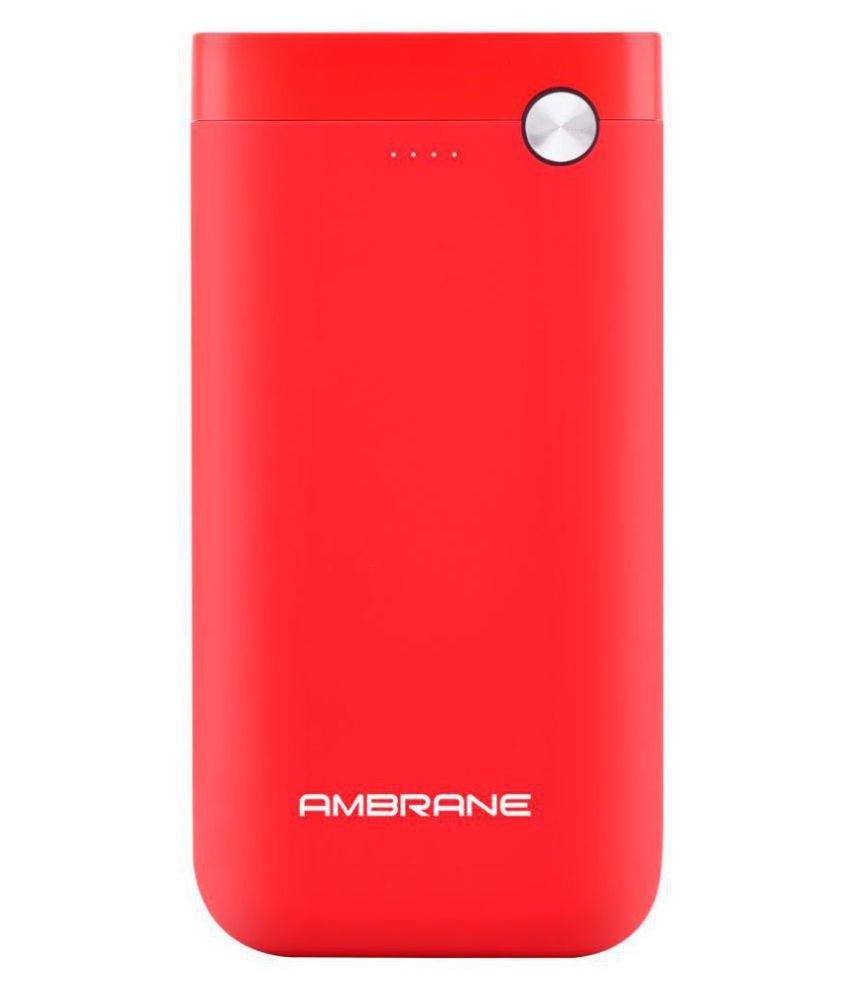 Ambrane PP-11 10000 -mAh Li-Polymer Power Bank Red