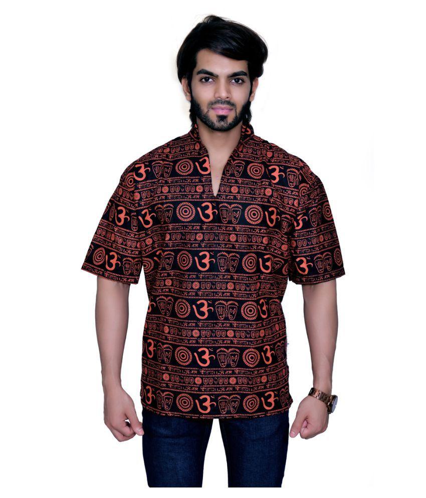 Balaji Garments Red Khadi Kurta