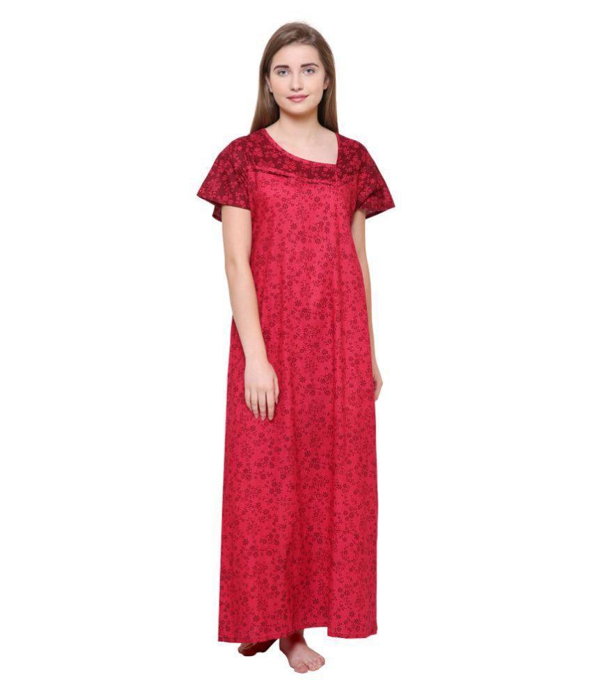 Klamotten Cotton Nighty & Night Gowns - Red