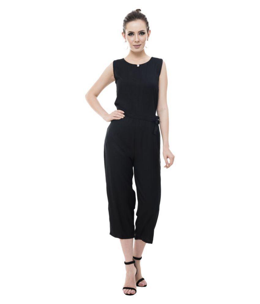 Cora Dora Black Rayon Jumpsuit