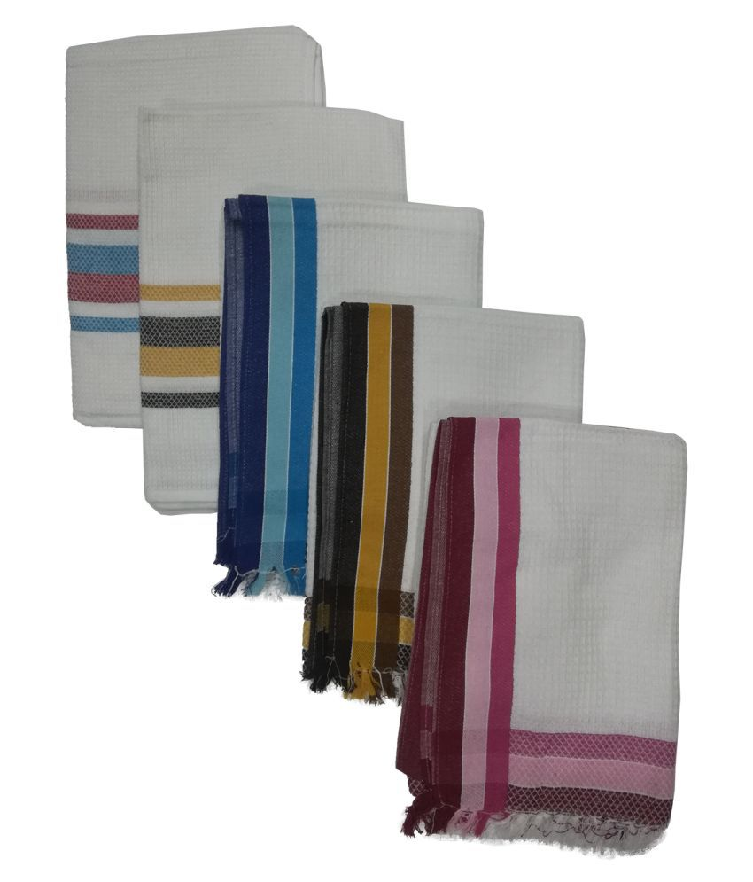 Athom Trendz Set of 5 Cotton Bath Towel Multi