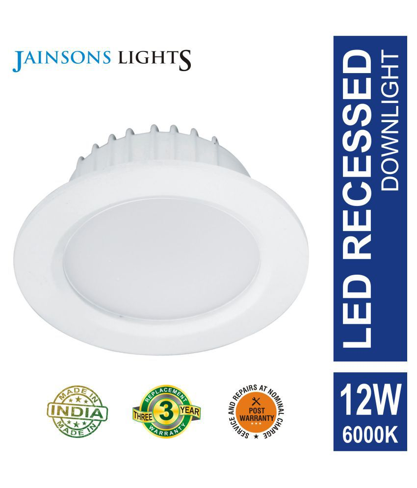 Jainsons Lights 12W Round Ceiling Light 12 cms. - Pack of 1