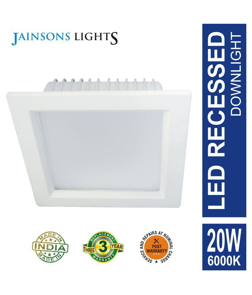 Jainsons Lights 20W Square Ceiling Light 13 cms. - Pack of 1