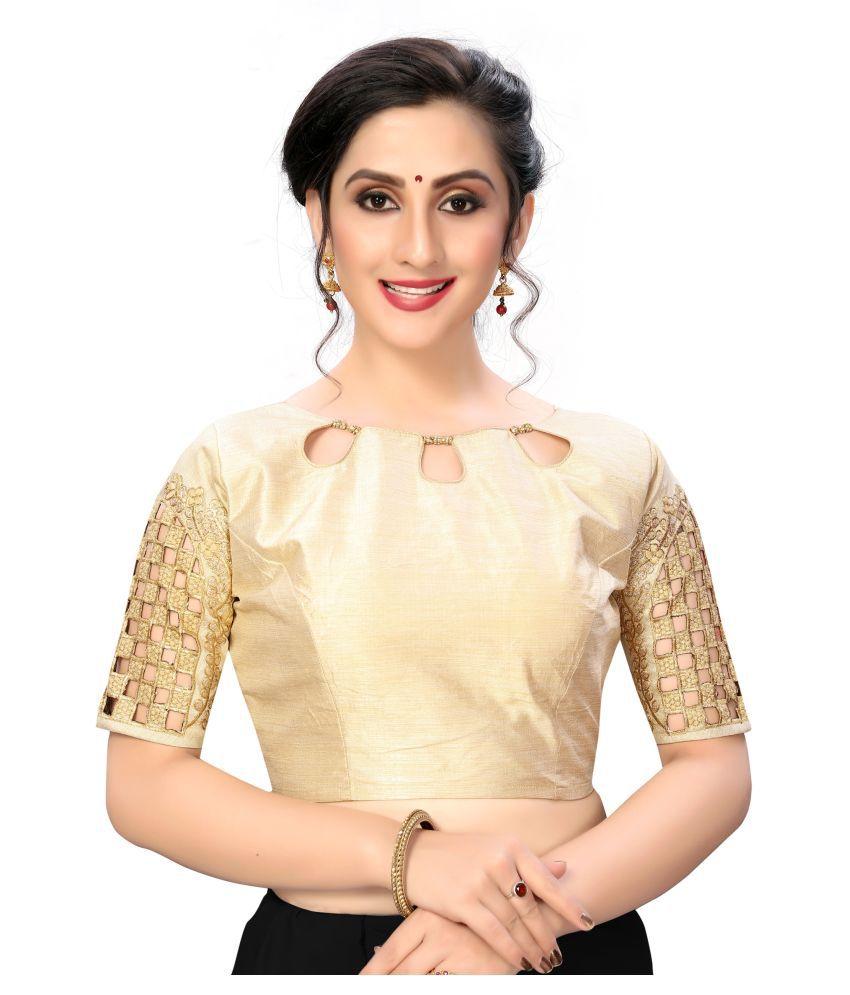 Shubh Sanidhya Off White Silk Semi Stitched Blouse