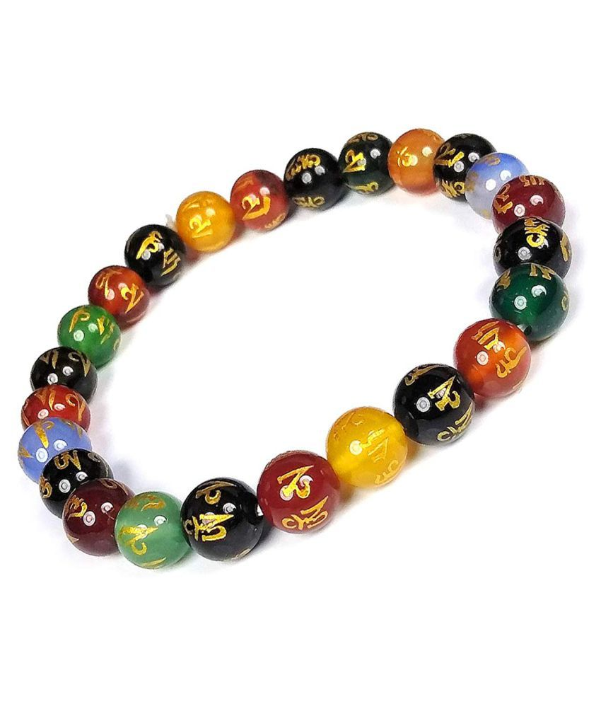 Reiki Crystal Products Natural Crystal Stones Reiki Healing Stones Combination Bracelet for Men & Women. Fashion Jewellery.