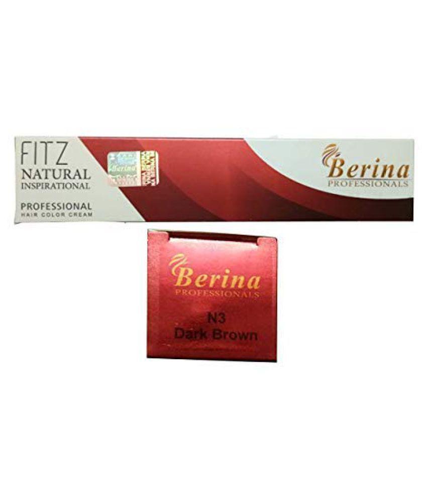 Berina Dark Brown Hair color (BER-004) Permanent Hair Color Dark Brown 2 g