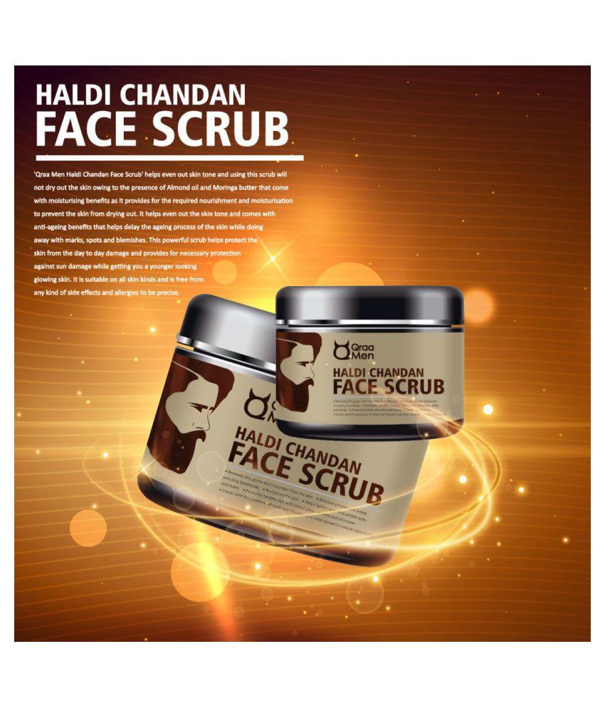 Qraa Men Haldi Chandan Skin Brightening Facial Scrub 100 gm