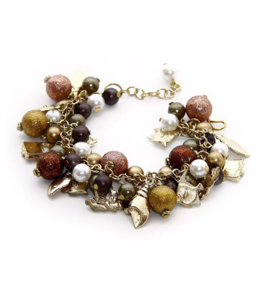 Zurii Gold Bead Bunch Bracelet
