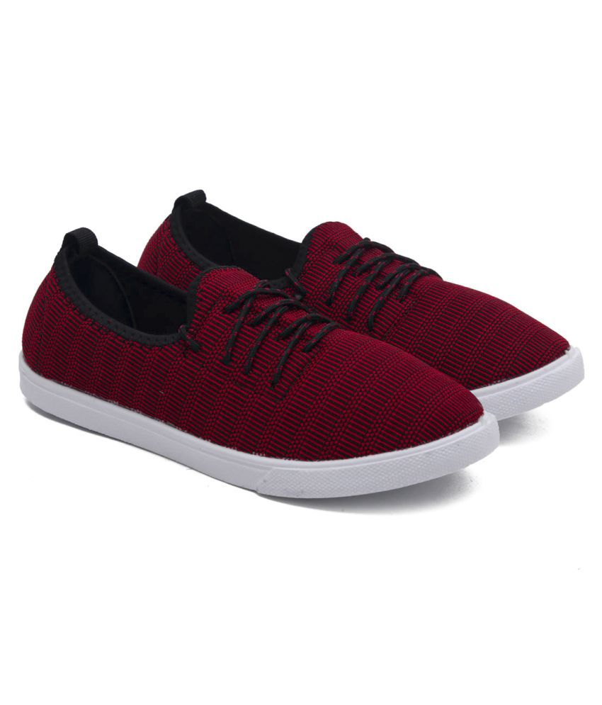 ASIAN Red Casual Shoes