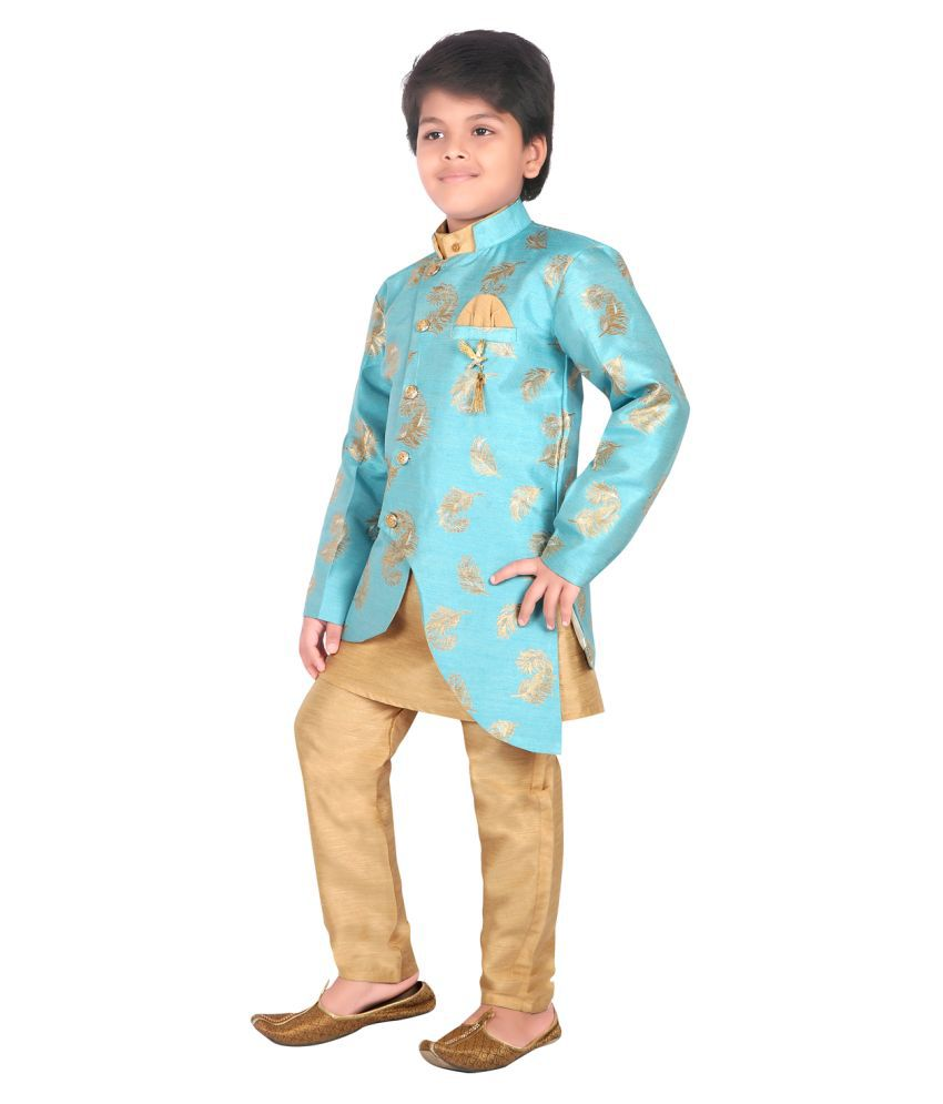 AHHAAAA Ethnic Wear Sherwani Kurta and Pyjama Set for Kids and Boys