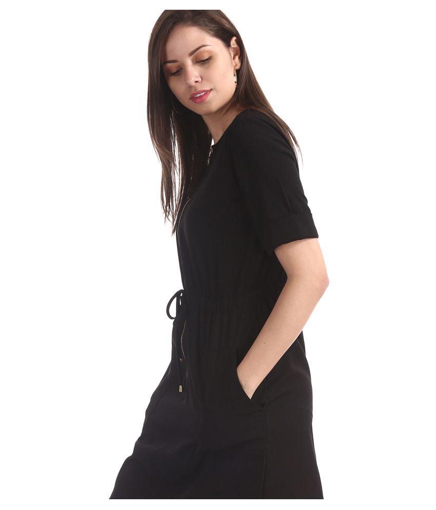 Cherokee Polyester Black Shift Dress