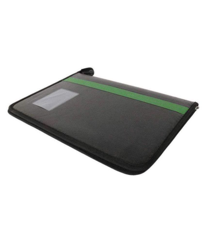 KolorFish Leatherette Material Professional Files and Folders, Certificate, Documents Holder (20 Leafs) (3102) (FS) (Black Green)