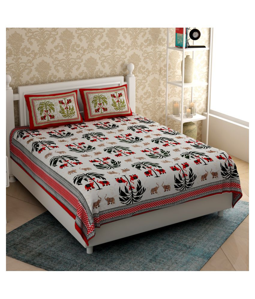 Varde Cotton Double Bedsheet with 2 Pillow Covers