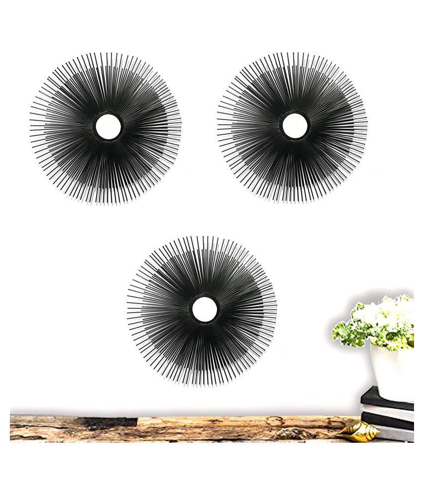 Flourish Concepts Mirror Wall Mirror Black ( 40 x 40 cms ) - Pack of 3
