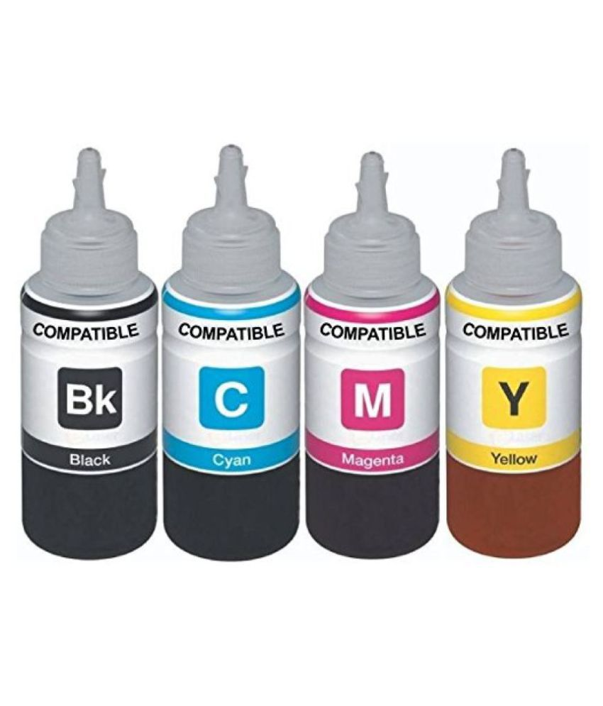 Kataria Refill Ink x 100ml Multicolor Pack of 4 Ink bottle for Canon Pixma Ink Tank G 2000 Multi Function Printer