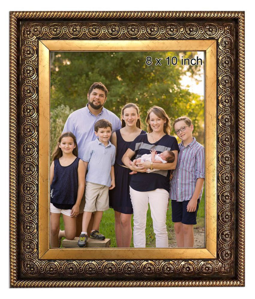 Allure Acrylic Gold Single Photo Frame - Pack of 1