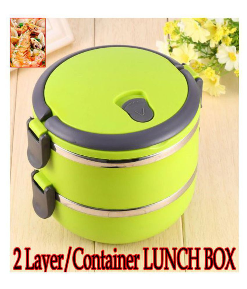 T Global Multicolour Stainless Steel Lunch Box