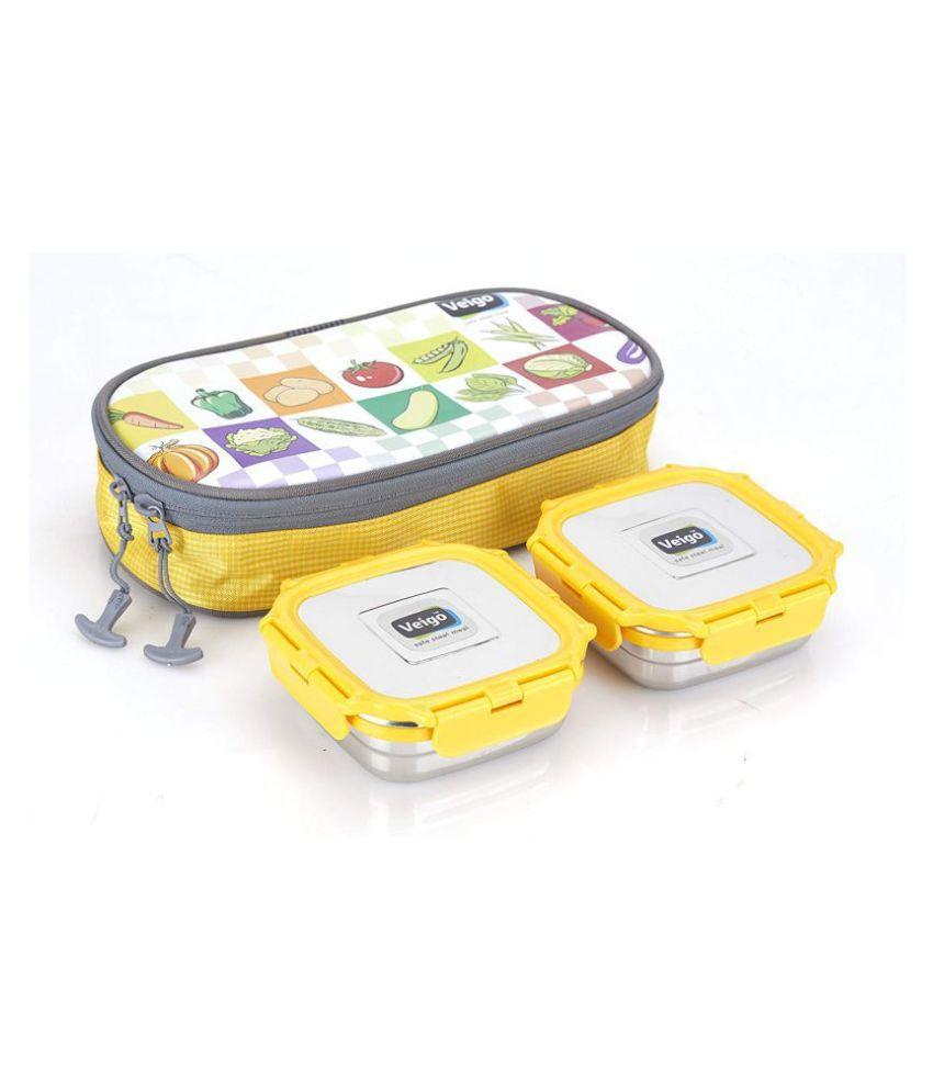 Veigo Silver Stainless Steel Lunch Box